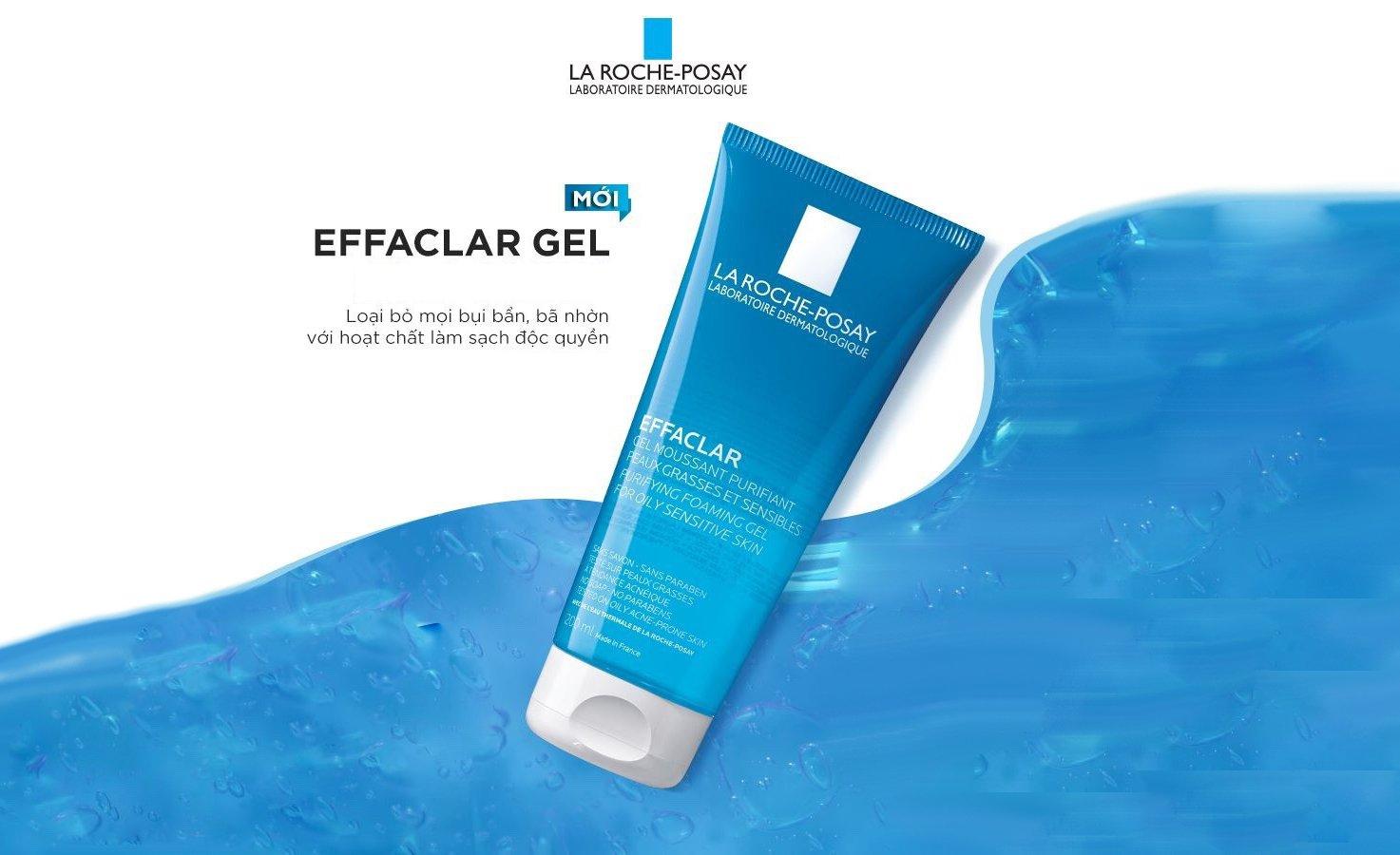 Gel rửa mặt cho da dầu gel Effaclar Gel
