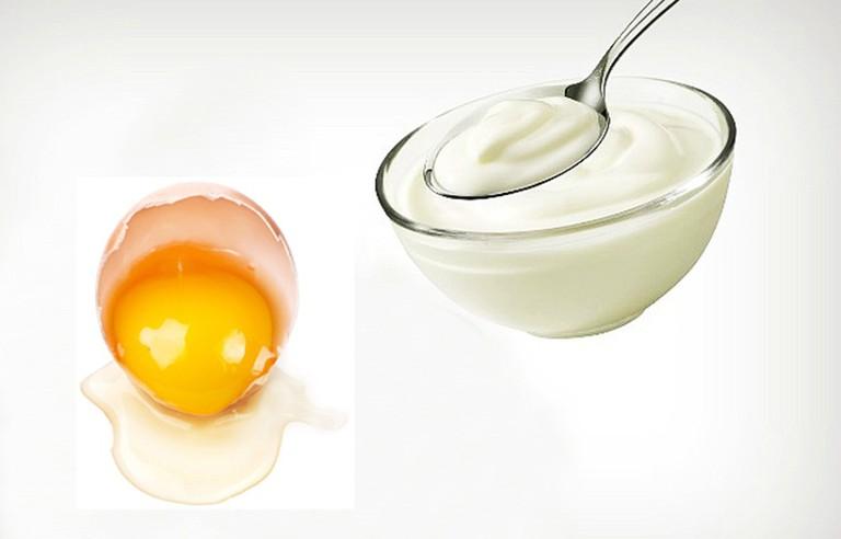 Mặt nạ trứng gà trắng da cùng sữa chua