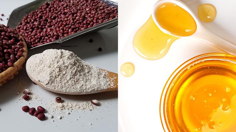 bột đậu đỏ mật ong